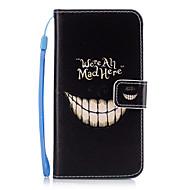 Для Чехлы панели Кошелек Бумажник для карт со стендом Задняя крышка Кейс для Слова / выражения Твердый Искусственная кожа для SamsungA5