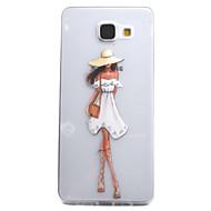 Для samsung galaxy a5 a3 (2016) чехол чехол мода девушка рисунок высокая проницаемость покраска tpu материал телефон чехол