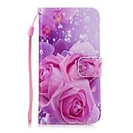 tok Για Samsung Galaxy A5(2017) A3(2017) Πορτοφόλι Θήκη καρτών με βάση στήριξης Πίσω Κάλυμμα Λουλούδι Σκληρή PU Δέρμα για A5 (2017) A3