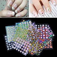 voordelige -30pcs Nail Art Sticker 3D Nagelstickers make-up Cosmetische Nail Art Design