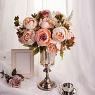 abordables Decoraciones de Boda-1 Rama Seda Poliestireno Peonías Flor de Mesa Flores Artificiales