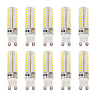 abordables Luces LED de Doble Pin-10pcs 320-340lm G9 Luces LED de Doble Pin T 64 Cuentas LED SMD 2835 Regulable Impermeable Blanco Cálido Blanco Fresco