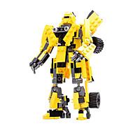 cheap Toys & Hobbies-GUDI Robot Toy Cars Action Figure Building Blocks Toys Warrior Car Machine Robot Transformable ABS Boys' Girls' Pieces