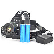 Headlamps Bike Lights Headlight LED 5000 lm 1 Mode Cree XM-L T6 Zoomable Anglehead Super Light Camping/Hiking/Caving Hunting Traveling
