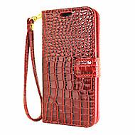 For Pung / Kortholder / Med stativ / Flip Etui Heldækkende Etui Helfarve Hårdt Kunstlæder for AppleiPhone 7 Plus / iPhone 7 / iPhone 6s