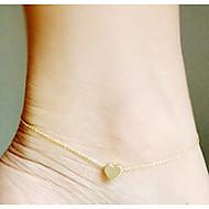 Недорогие $0.99 Модное ювелирное украшение-Ножной браслет - Сердце, Любовь европейский Серебряный / Золотой Назначение Свадьба Для вечеринок Повседневные Жен.