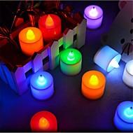 24 stk / pakke led lys lys t 1 dip led 300 lm rød blå gul grøn pink dekorative med knap batterier