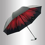 Rojo / Negro Paraguas de Doblar Sombrilla Plastic Carrito de Bebé