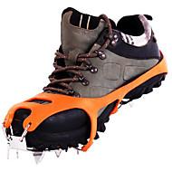 お買い得  ウィンタースポーツ用アクセサリ-滑り止め用グリッパー Climbing Shoes アイゼン 18歯 アンチスリップ ステンレス