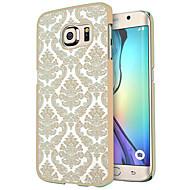 お買い得  携帯電話ケース-ケース 用途 Samsung Galaxy Samsung Galaxy S7 Edge クリア パターン バックカバー タイル柄 PC のために S7 edge S7
