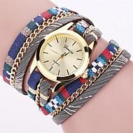 Dame Modeur Armbåndsur Farverig Quartz PU Bånd Vintage Slik Bohemisk Charm Armbånd Bangles Sej Afslappet Mangefarvet