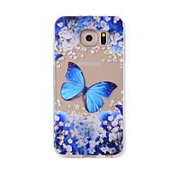 billige Etuier/deksler til Samsung-Etui Til Samsung Galaxy S7 edge S7 Mønster Bakdeksel Sommerfugl Myk TPU til S7 edge S7 S6 edge S6 S5 S4
