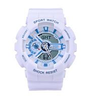 Недорогие Фирменные часы-SANDA Спортивные часы Смарт Часы Наручные часы Цифровой Японский кварц 30 m Защита от влаги Секундомер LED силиконовый Группа Аналого-цифровые На каждый день Мода Черный / Белый / Синий -