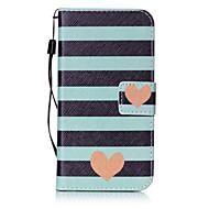 Недорогие Чехлы и кейсы для Galaxy S-Кейс для Назначение SSamsung Galaxy S7 edge S7 Бумажник для карт Кошелек Флип С узором Чехол С сердцем Твердый Кожа PU для S7 edge S7 S6