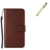 Etui Käyttötarkoitus Samsung Galaxy S7 edge S7 Lomapkko Korttikotelo Tuella Kokonaan peittävä Elefantti Kova PU-nahka varten S7 edge S7