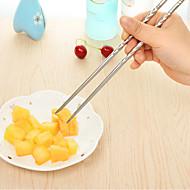 cheap Tableware-Round Chopsticks  Thread Chopsticks  Metal Non Slip Heat Insulation  Gift Printing Chopsticks  Stainless Steel Chopsticks with Blue and White Porcelai