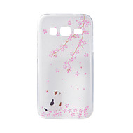 Для samsung galaxy j7 j5 чехол для корпуса вишневый кошка покрашенный узор tpu материал чехол для телефона
