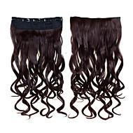 お買い得  -Febay クリップ式 人間の髪の拡張機能 ウェーブ ヘアピース 合成 1枚 着色