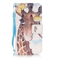 birdie deer 3d painting pu phone case voor apple itouch 5 6 ipod cases / covers