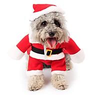 abordables Disfraces de Navidad para mascotas-Gato / Perro Disfraces / Mono / Navidad Ropa para Perro Caricatura Rojo Lana Polar Disfraz Para mascotas Hombre / Mujer Cosplay / Navidad
