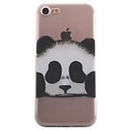 Назначение iPhone X iPhone 8 iPhone 7 iPhone 6 Кейс для iPhone 5 Чехлы панели Прозрачный С узором Задняя крышка Кейс для Животное Панда