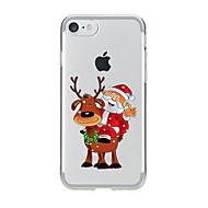 Назначение iPhone X iPhone 8 iPhone 7 iPhone 6 Кейс для iPhone 5 Чехлы панели Прозрачный С узором Задняя крышка Кейс для Рождество Мягкий