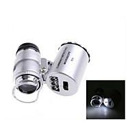 ZW-9882 60X Mini Plastic Optical Glass Lens Magnifier  (3*LR1130)