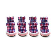 Hunde Schuhe und Stiefel Modisch / warm halten Winter Plaid/Karomuster Baumwolle