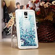 Mert Samsung Galaxy tok Folyékony Case Hátlap Case Csillámpor PC Samsung S6 / S5 / S4