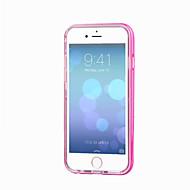 Недорогие Кейсы для iPhone 8 Plus-Кейс для Назначение Apple iPhone 8 / iPhone 8 Plus / iPhone 7 Мигающая LED подсветка / Прозрачный Кейс на заднюю панель Однотонный Мягкий ТПУ для iPhone 8 Pluss / iPhone 8 / iPhone 7 Plus