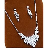 abordables -Mujer Zirconia Cúbica Conjunto de joyas Zirconio Incluir Plata Para Fiesta / Pendientes / Collare