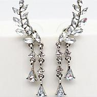 preiswerte -Damen Künstliche Perle / Strass / Diamantimitate Klips - Luxus Gold / Silber Ohrringe Für Party / Alltag / Normal