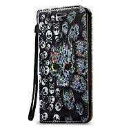 tok Για Samsung Galaxy J7 (2016) J5 (2016) Πορτοφόλι Θήκη καρτών Ανοιγόμενη Πλήρης κάλυψη Νεκροκεφαλές Σκληρή PU Δέρμα για On 5 J7 (2016)