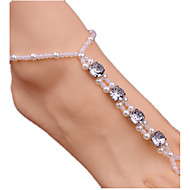 abordables -Mujer Brazalete tobillo / Pulseras y Brazaletes Perla Perla Artificial Diamante Sintético Legierung Joyería Destacada Hecho a Mano Europeo