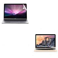 """cubierta delgada de TPU transparente protector del teclado ultra suave + protector de pantalla transparente de protección para 12 """"macbook"""