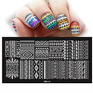 nova arte do prego DIY 12x6 cm carimbo de carimbar modelos Imagem polons unhas stencils manicure