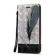 Кейс для Назначение SSamsung Galaxy S7 edge S7 Бумажник для карт Кошелек Флип Чехол  Перья Твердый Искусственная кожа для S7 edge S7 S6