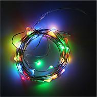 3aa elemes 5m 50 led szalag rézdrót karácsonyi fények dekoráció ünnep világítás elemtartó led húr fény