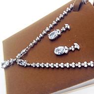 abordables -Mujer Zirconia Cúbica Conjunto de joyas Zirconio, Zirconia Cúbica Estilo Simple Incluir Plata Para Fiesta / Pendientes / Collare