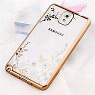 Для Samsung Galaxy Note Покрытие / Прозрачный / С узором Кейс для Задняя крышка Кейс для Цветы TPU Samsung Note 5 / Note 4 / Note 3