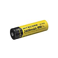 billige Batterier & Opladere-nitecore nl1826 2600mAh 3.7v 9.6wh 18650 li-ion genopladeligt batteri