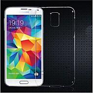 Недорогие Чехлы и кейсы для Galaxy S-Кейс для Назначение SSamsung Galaxy Кейс для  Samsung Galaxy Прозрачный Кейс на заднюю панель Сплошной цвет ТПУ для S5 Mini