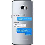 Для Ультратонкий Прозрачный С узором Кейс для Задняя крышка Кейс для Слова / выражения Мягкий TPU для SamsungS7 edge S7 S6 edge plus S6
