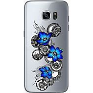 Для Ультратонкий Прозрачный С узором Кейс для Задняя крышка Кейс для Цветы Мягкий TPU для Samsung S7 edge S7 S6 edge plus S6 edge S6