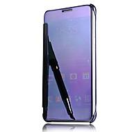 Voor Automatisch aan/uit Beplating Spiegel Flip hoesje Volledige behuizing hoesje Effen kleur Hard PC voor SamsungA9(2016) A7(2016)