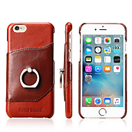 Til iPhone X iPhone 8 iPhone 8 Plus iPhone 7 iPhone 7 Plus iPhone 6 Etuier Ringholder Bagcover Etui Helfarve Hårdt Ægte læder for Apple