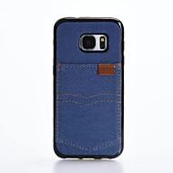 Недорогие Чехлы и кейсы для Galaxy S7-Кейс для Назначение SSamsung Galaxy S7 edge S7 Бумажник для карт Защита от удара Кейс на заднюю панель Сплошной цвет Мягкий текстильный