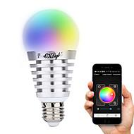 8W E26/E27 LED-älyvalot A60(A19) 10 Teho-LED 600 lm Lämmin valkoinen Kylmä valkoinen Neutraali valkoinen RGB Koristeltu AC 100-240 V 1 kpl
