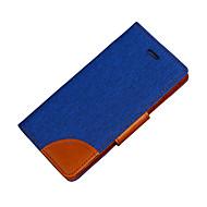 お買い得  携帯電話ケース-ケース 用途 Samsung Galaxy J5 (2016) / J3 (2016) ウォレット / カードホルダー / スタンド付き フルボディーケース ソリッド ハード PUレザー のために J5 (2016) / J5 / J3 (2016)