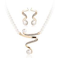 abordables Offres Quotidiennes-Cristal Ensemble de bijoux - Perle, Imitation de perle, Strass Luxe Comprendre Or Pour Mariage / Soirée / Décontracté / Imitation Diamant